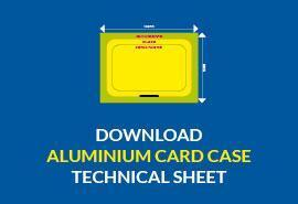 Technical Sheet: Alluminium Card Case