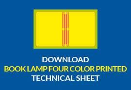 book lamp four color printed download technical sheet