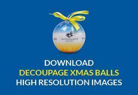 decoupage Xmas balls download high resolution image