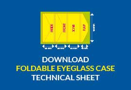 foldable eyeglass case download technical sheet