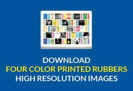 four color printed rubbers download high resolution image