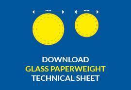 glass paperweight download technical sheet